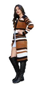 Cardigan Feminino Casaco Kimono De Frio Trico Tricot