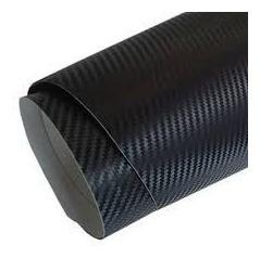 Adesivo Fibra De Carbono X Preto Moldável 50 X 122 Cm