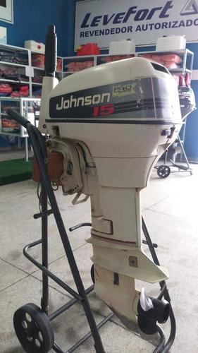 Motor De Popa Johnson 15hp 1993 12 X Cartao De Credito