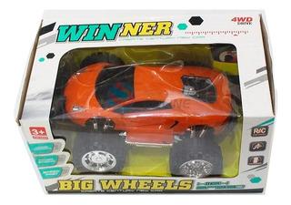Camioneta 4x4 Radio Control Tracción 4 Ruedas Rojo Amarillo