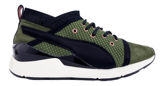 Tenis Atleticos Pearl Vr Wn Olive Mujer 01 Puma 364154