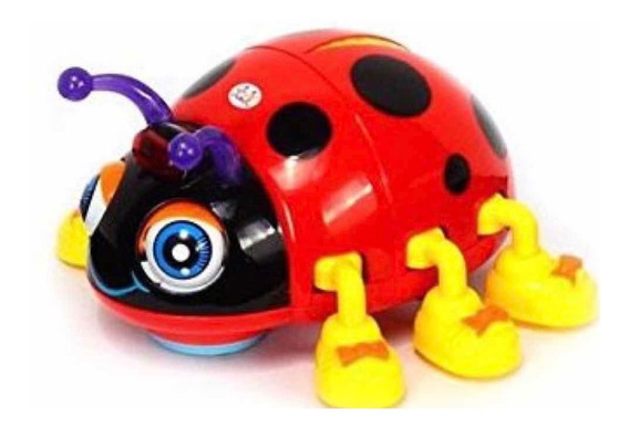Juguete Para Bebe Pequeño Escarabajo Sonido Luz Música
