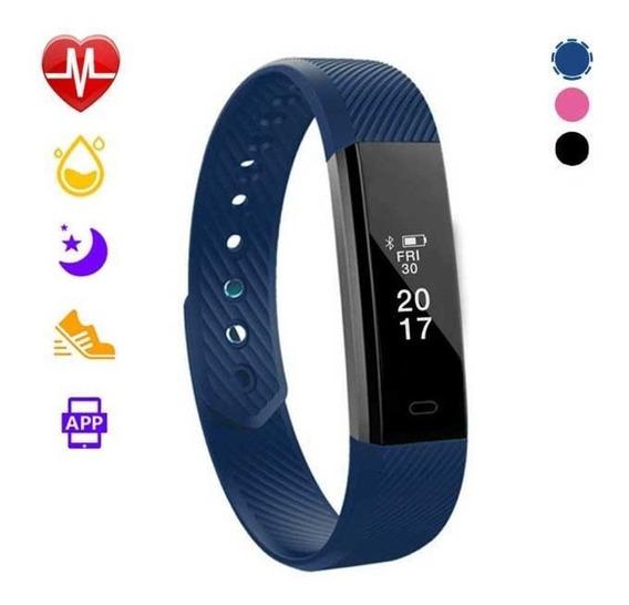Reloj Pulsera Inteligente Smart Band Watch Azul Glückluz