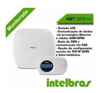 Central De Alarme Com Chip Intelbras Amt 2018 Eg Gsm/gprs