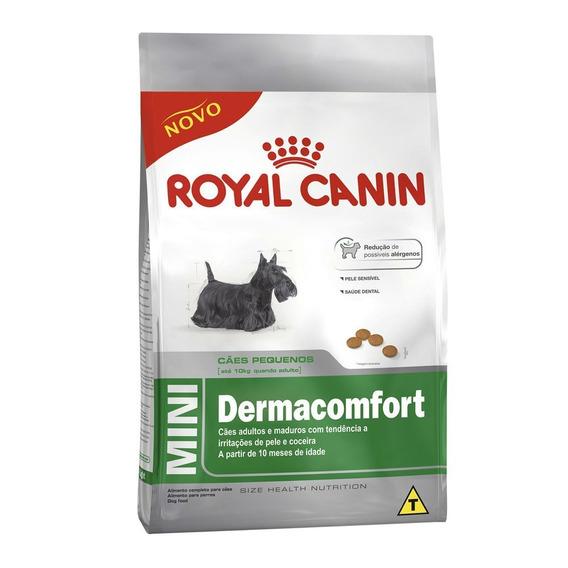 Ração Royal Canin Mini Dermacomfort Cães Adultos 7,5 Kg
