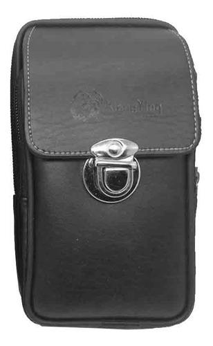Imagen 1 de 6 de Mini Men Faux Leather Zipper Tactical Cinturón Bolsa Cintura
