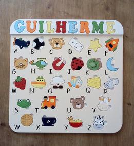 Alfabeto Ilustrado Brinquedo Educativo Pedagógico Encaixemdf
