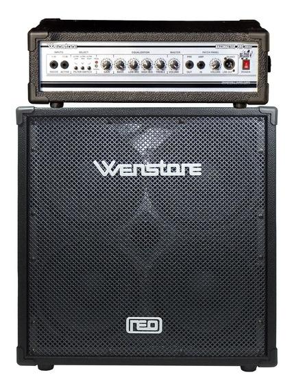 Amplificador De Bajo Wenstone Cabezal Be2200h + Caja B410