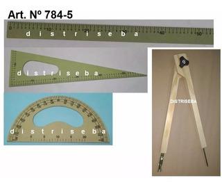 Set 4 Artículos Geometría Mat Didáctico Aula Csxprt