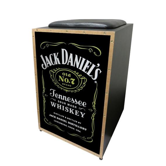 Cajon Jaguar Elétrico Inclinado Jack Daniels