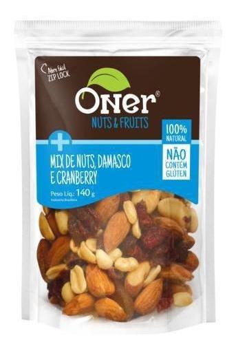 Mix De Nuts, Damasco E Cranberry 140g