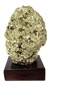 Pirita Bruta Madeira Cristal Natural Riqueza Sucesso 550