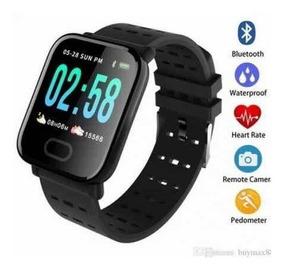 Relógio Smartwatch A6 Pressão Arterial E Monitor Cardíaco
