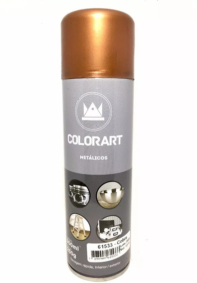 Tinta Spray Cobre Metálico Colorart Automotivo Objetos 300ml