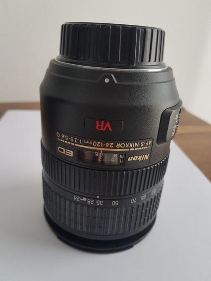 Nikon Af-s Vr Zoom Nikkor 24-120mm F / 3.5-5.6g Nova*