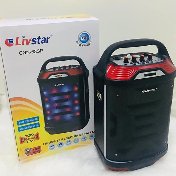 Caixa De Som Amplificada Radio Livstar Cnn-68sp Bt Usb Sd