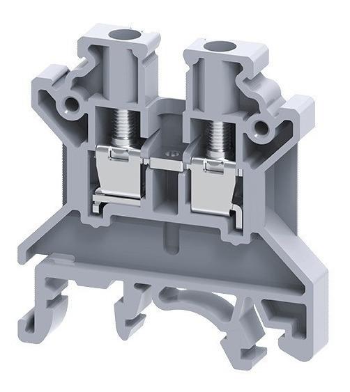 100 Conector Borne Sak 2,5mm Espessura 5mm Cinza Conectwell
