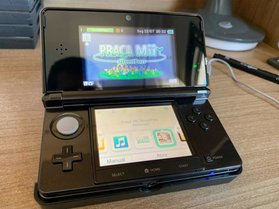 Nintendo 3ds Completo + 3 Jogos. Tudo Original!