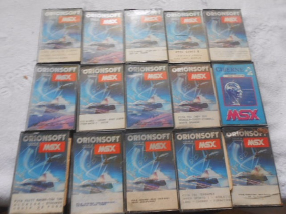 Games Msx Orionsoft Lote Com 15 Fitas Diferentes Único No Ml