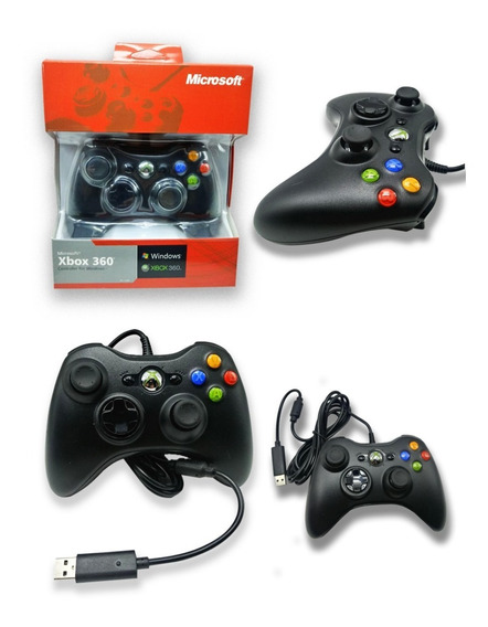 Controle Xbox 360 E Pc Com Fio Original Promoção Barato