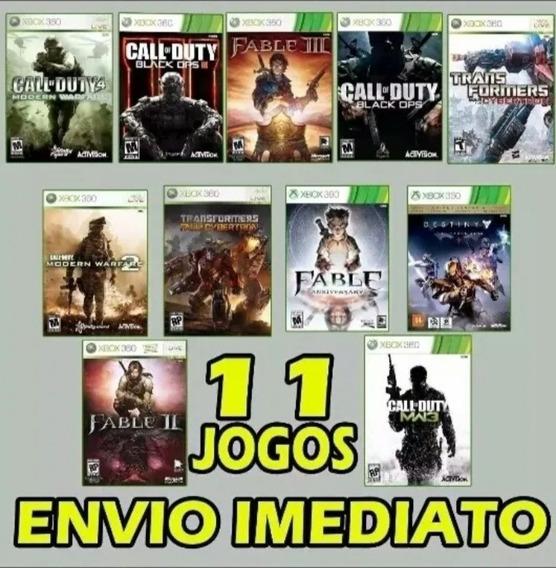 Combo 11 Jogos Xbox 360 Midia Digital