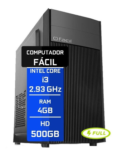 Computador Fácil Intel Core I3 4gb Ddr3 Hd 500gb Nota Fiscal