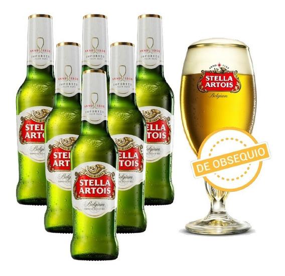 Stella Artois 330ml X6 + Copa De Regalo