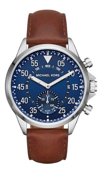 Relógio Michael Kors Access Gage Hybrid Mkt4006 Azul/marrom