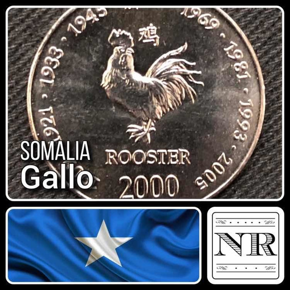 Somalia - 10 Shillings - Año 2000 - Km # 99 - Gallo