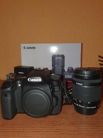 Canon 70d Kit + Lente 70-300 E Acessórios