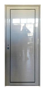 Puerta De Aluminio Blanco Exterior Reforzada 80 X 200 Ciega