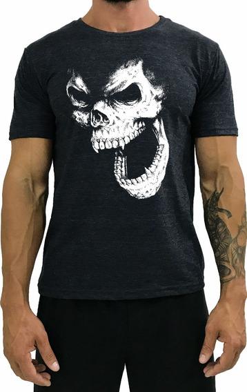 Camiseta Estampadas Masculinas T-shirt Moda Caveira Academia