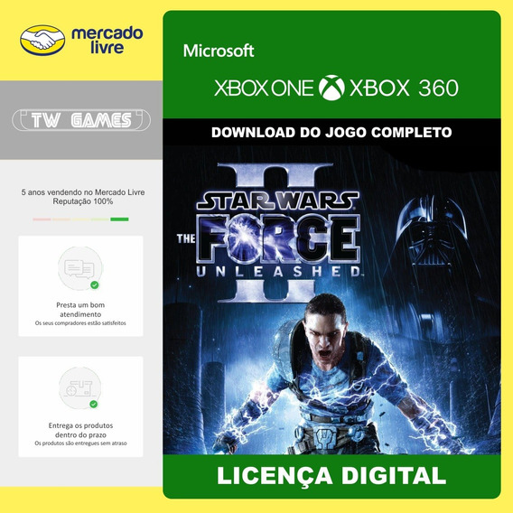 Star Wars Force Unleashed Ii 2 Retrocompativel Xbox One 360