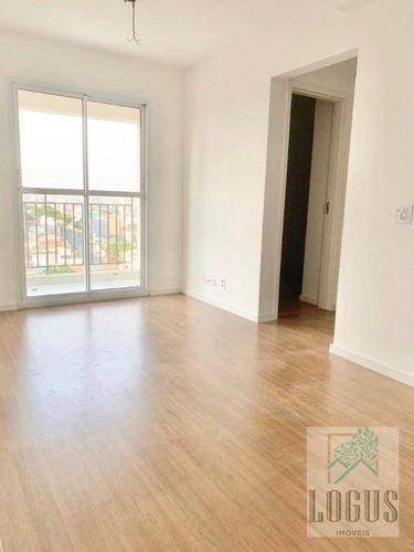 Imagem 1 de 8 de Apartamento Com 2 Dormitórios Para Alugar, 49 M² Por R$ 1.650,00/mês - Vila Eldízia - Santo André/sp - Ap1131