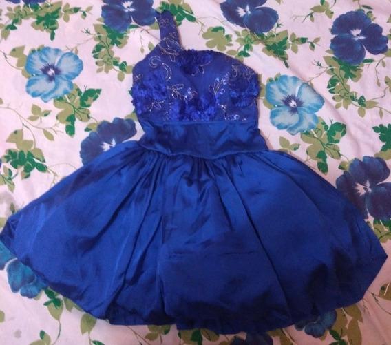 Vestido Curto Azul . Ótima Qualidade
