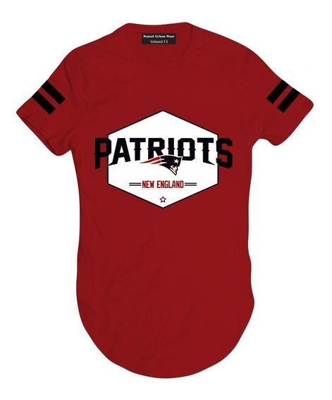 Camiseta Camisa Blusa Longline King Swag Patriots C1