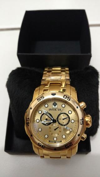 Relógio Invicta 100% Original - Banhado A Ouro 18k