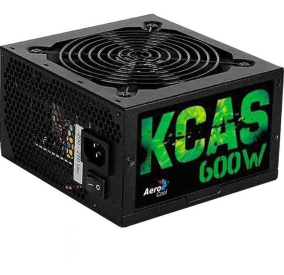Fonte Gamer Atx Kcas 600w 80 Plus Bronze Pfc Ativo Aerocool
