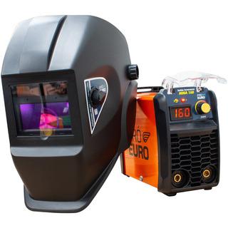 Inversora Solda 160a 220v + Máscara Automática C/ Regulagem