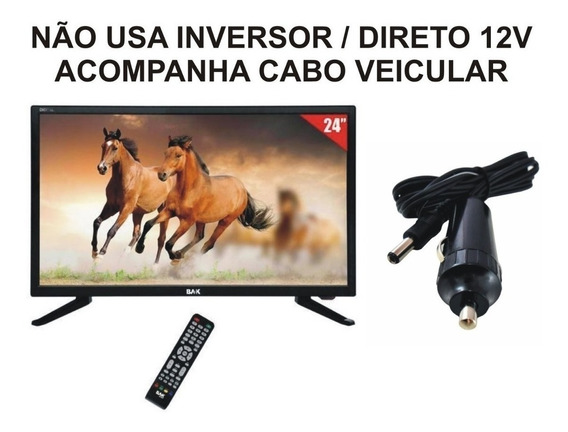Smart Tv Digital 24 Pol 12v Usb Onibus Carreta Van Lancha