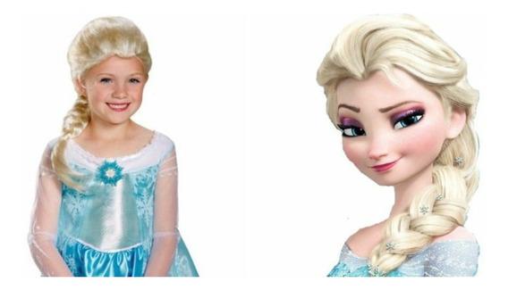Frozen Peluca Elsa Completa Ajustable
