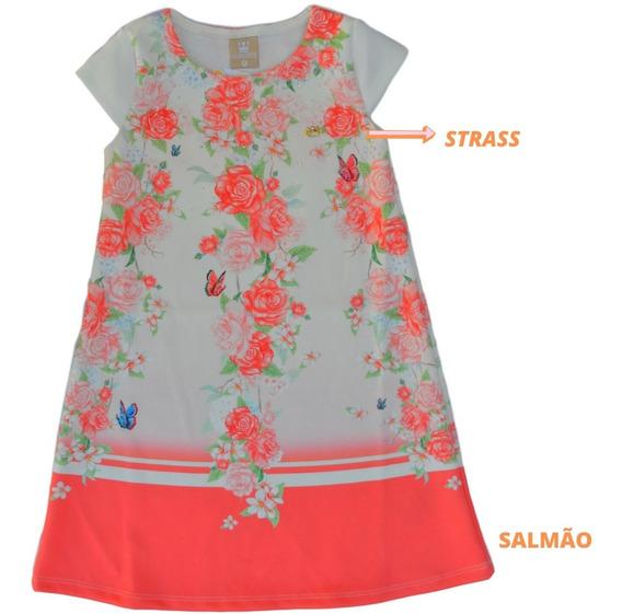 Vestido Trapézio Criança Fashion Lançamento Bonito