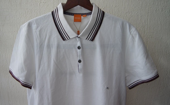 Hugo Boss Orange Playera Polo Talla Xl Color Blanco
