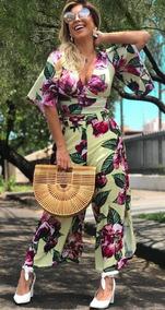 Conjunto De Pantacourt E Cropped Floral Tam 38