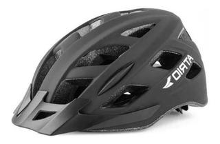 Capacete Ciclismo Bike Atrio Led 2 Bi105 Preto Fosco M
