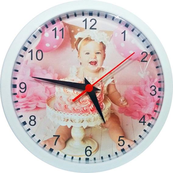 06 Relógios Parede Personalizados (grande 24cm) Com A Foto Que Desejar- Lindo Presente (embalados Em Caixas Individuais)