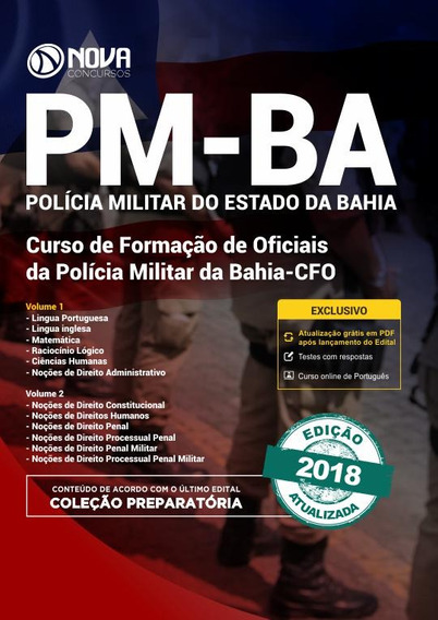 Apostila Pm-ba 2018- Curso De Formação De Oficiais