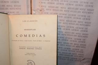 Libro Físico Comedias Shakespeare Mercader Venecia Tempestad