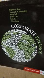 Corporate Finance Asia Global Edition Ross Westerfield Jaffe