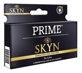 Preservativos Prime Skyn X6 Unidades Sin Latex Mayor Calor